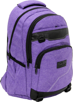 Cambridge Polo Club Plcan1685, Jeans Fabric Backpack, Purple-1