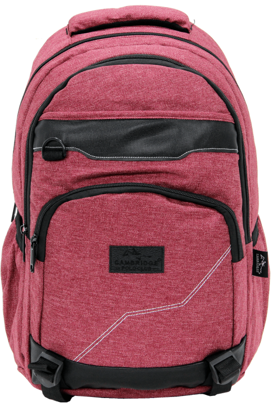 Cambridge Polo Club Plcan1685, Jeans Fabric Backpack, Bordeaux