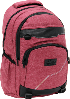 Cambridge Polo Club Plcan1685, Jeans Fabric Backpack, Bordeaux-1