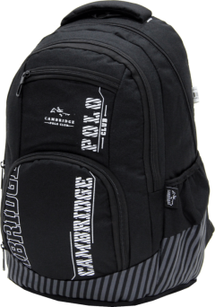 Cambridge Polo Club Plcan1680, Backpack, Black-2