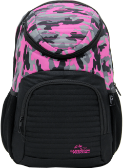 Cambridge Polo Club Plcan1660, Camouflage Backpack, Pink-0