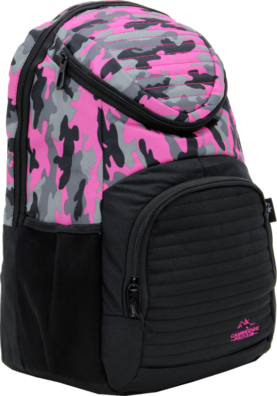 Cambridge Polo Club Plcan1660, Camouflage Backpack, Pink