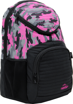 Cambridge Polo Club Plcan1660, Camouflage Backpack, Pink-1