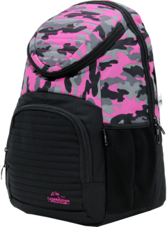Cambridge Polo Club Plcan1660, Camouflage Backpack, Pink-2