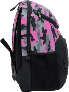 Cambridge Polo Club Plcan1660, Camouflage Backpack, Pink-3