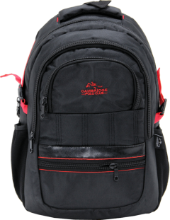 Cambridge Polo Club Plcan1727, Thick Fabric Backpack, Red-0