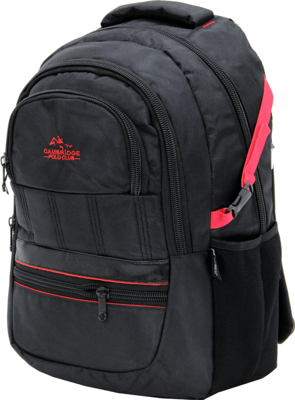 Cambridge Polo Club Plcan1727, Thick Fabric Backpack, Red