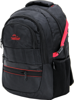 Cambridge Polo Club Plcan1727, Thick Fabric Backpack, Red-2