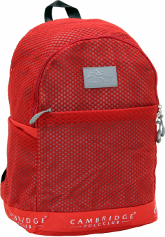 Cambridge Polo Club Plcan1655, File Backpack, Red