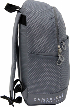 Cambridge Polo Club Plcan1655, File Backpack, Gray-1