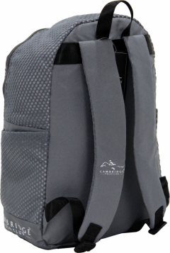 Cambridge Polo Club Plcan1655, File Backpack, Gray-2
