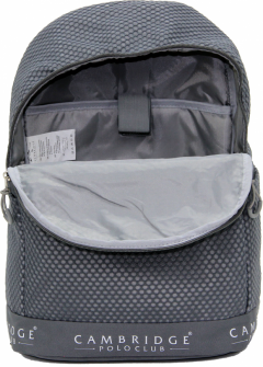 Cambridge Polo Club Plcan1655, File Backpack, Gray-3