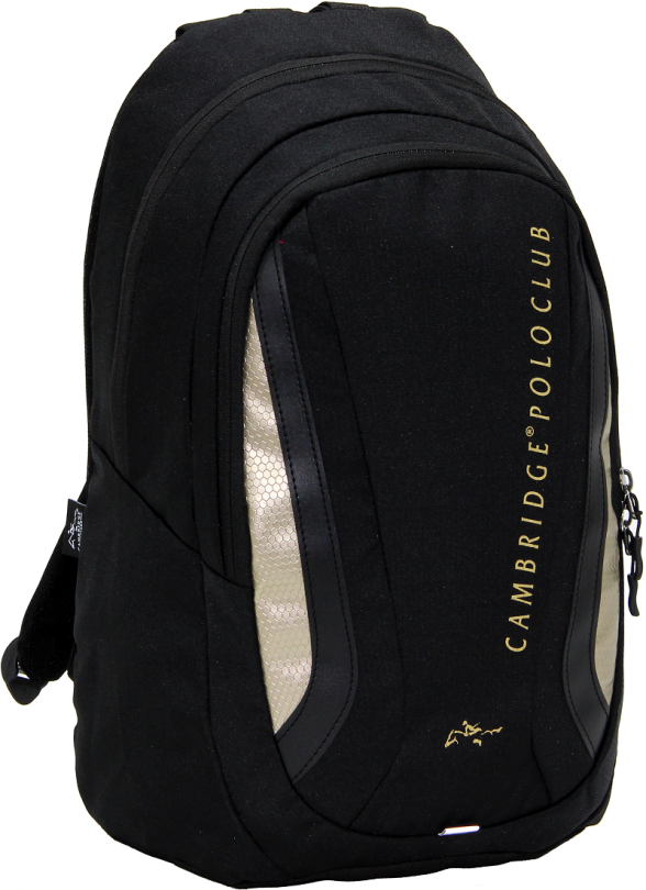 Cambridge Polo Club Plcan1654, Laptop Backpack, Black