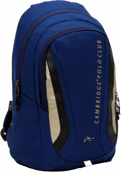 Cambridge Polo Club Plcan1654, Laptop Backpack, Navy Blue-0