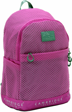 Cambridge Polo Club Plcan1655, File Backpack, Fuchsia-0