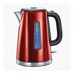Russell Hobbs 23210 Luna Quiet Boil Electric Kettle Stainless Steel 3000 W 1 7 Litre Red