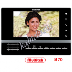 Multitek M70 Lcd Monitör Handsfree,Renkli Görüntülü,Tuşlu Monitör