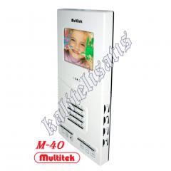 Multitek M40 Lcd Kapı Monitörü  Görüntülü Tuşlu Daire Telefonu