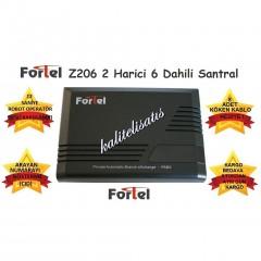 Fortel Z206 2 Harici 6 Dahili PBX Telefon Santrali