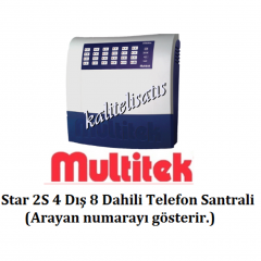 Multitek Star 2S 4Harici 8Dahili Telefon Santrali