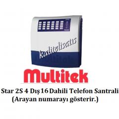 Multitek Star 2S 4 Harici 16 Dahili Telefon Santral