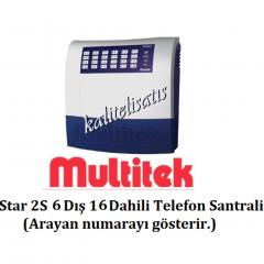 Multitek Star 2S 6 Harici 16 Dahili Telefon  Santral