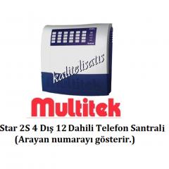 Multitek  Star 2S 4 Harici 12 Dahili Telefon Santral-0