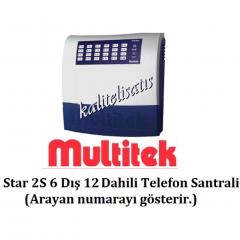 Multitek Star 2S 6 Harici 12 Dahili Telefon Santral