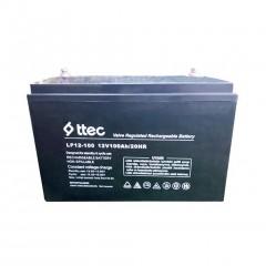 Ttec 12 Volt 100 Amper Bakımsız Kuru Akü ( 12V 100Ah )