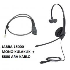 Jabra 1500 Mono QD NC Mikrofonlu Çağrı Merkezi Telefon Kulaklık