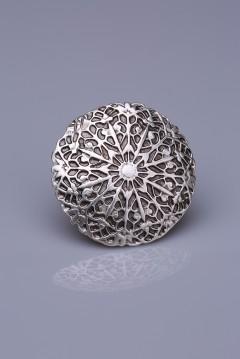 Gümüş Kaplama Mıknatıslı Broş 05-0901-00-12
