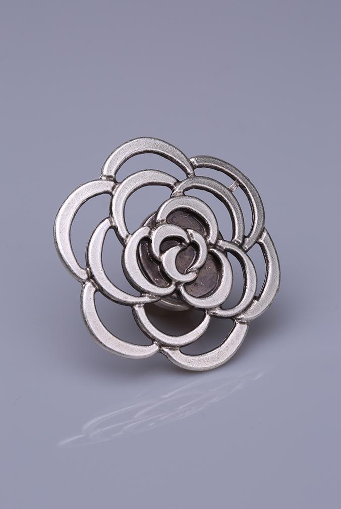 Gümüş Kaplama Mıknatıslı Broş 05-0907-00-12