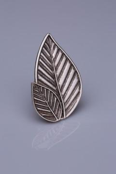 Gümüş Kaplama Mıknatıslı Broş 05-0909-00-12