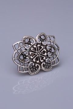 Gümüş Kaplama Mıknatıslı Broş 05-0913-00-12
