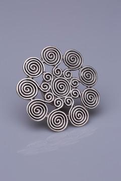 Gümüş Kaplama Mıknatıslı Broş 05-0918-00-12
