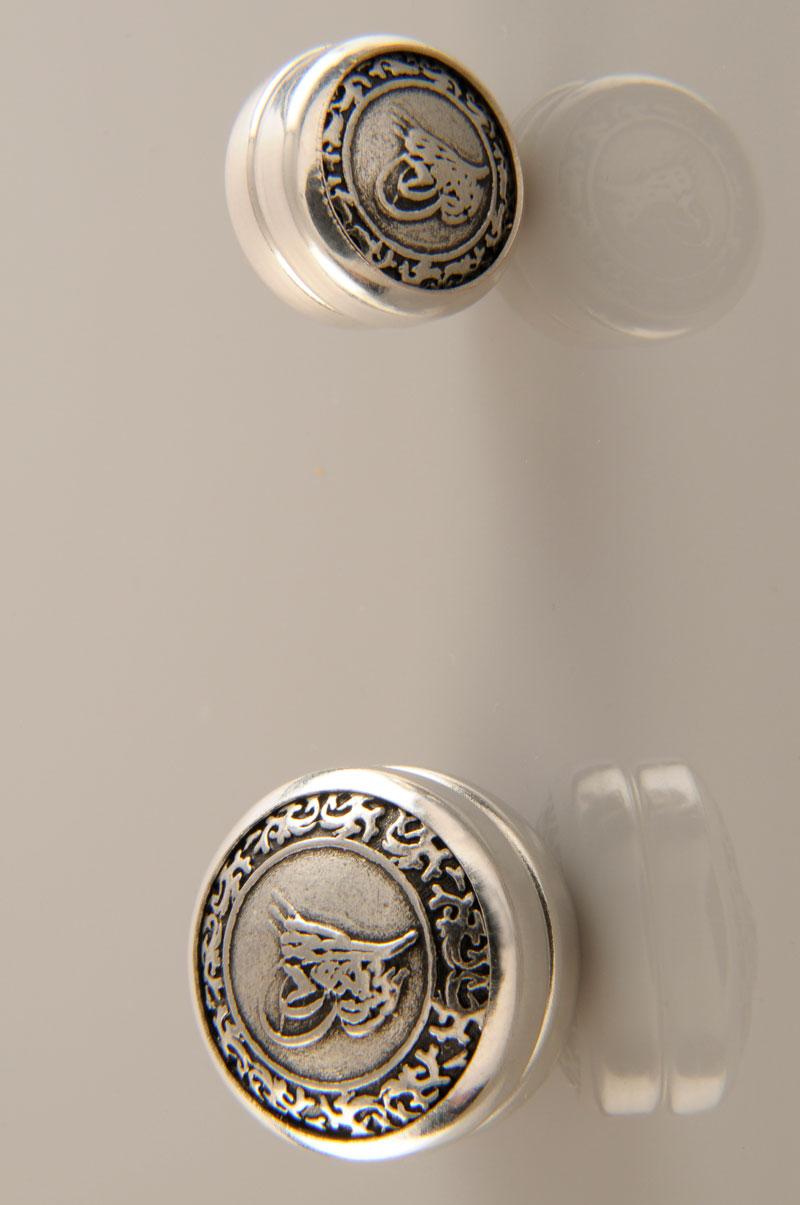 Osmanlı Tuğrası Gümüş Kaplama Eşarp Mıknatısı 06-0902-44-10
