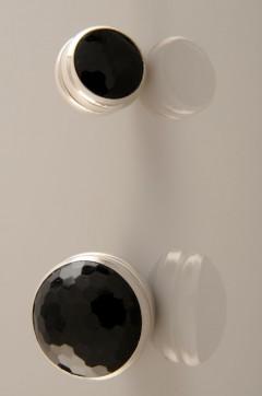 Siyah Gümüş Kaplama Eşarp Mıknatısı 06-0824-02-10