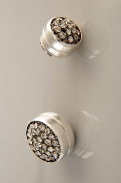 Siyah Gümüş Kaplama Eşarp Mıknatısı 06-0401-02-10