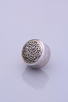 Gümüş Kaplama Eşarp Mıknatısı ZAMAK SERİSİ 06-0906-44-10-T
