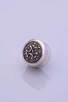 Gümüş Kaplama Eşarp Mıknatısı ZAMAK SERİSİ 06-0907-44-10-T