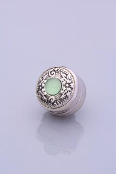 Açık Yeşil Yeşil Kaplama Eşarp Mıknatısı ZAMAK SERİSİ 06-0909-09-10-T