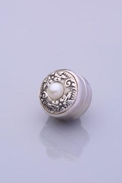 Mat İnci Gümüş Kaplama Eşarp Mıknatısı ZAMAK SERİSİ 06-0909-38-10-T