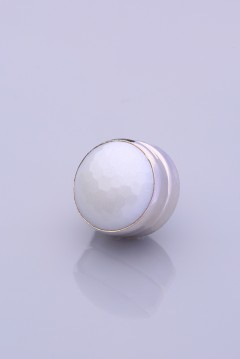 Beyaz Gümüş Kaplama Eşarp Mıknatısı METALİZE SERİSİ 06-0824-39-10-T