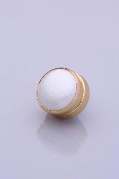 Beyaz Altın Kaplama Eşarp Mıknatısı METALİZE SERİSİ 06-0824-39-20-T