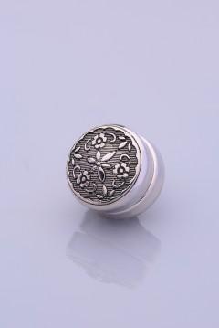 Antresit Gümüş Kaplama Eşarp Mıknatısı METALİZE SERİSİ 06-0828-17-10-T