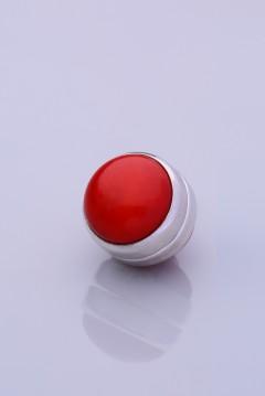 Mercan Kırmızısı Gümüş Kaplama Eşarp Mıknatısı DOGALTAS-SERISI 06-0301-63-10-T