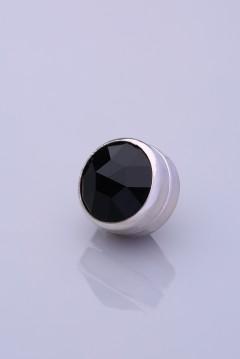 Siyah Gümüş Kaplama Eşarp Mıknatısı AKRİLİK SERİSİ 06-0102-02-10-T