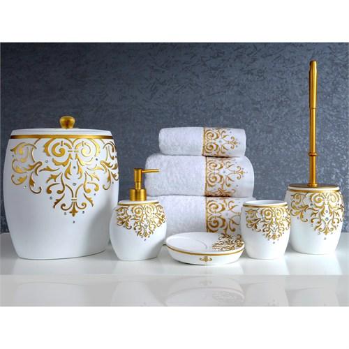 İrya Flossy Beyaz 5 Parça Banyo Set