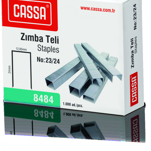 CASSA Zımba Teli, 200 Sayfa Zımbalama Kapasiteli, No:23/24 – 8484