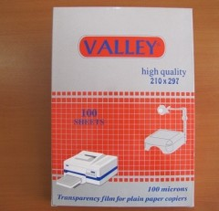 Valley Fotokopi Asetatı, A3, 100 Micron, 100'lü
